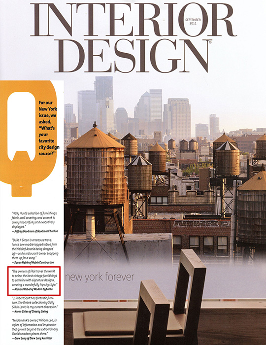 Nyc interior designer richard rabel in the media Interior magazine