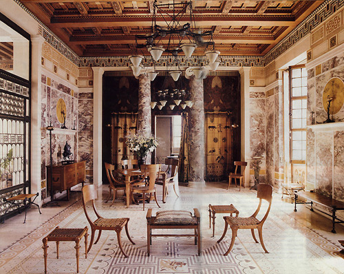 The villa kerylos on the french riviera themodernsybarite for Ancient roman interior decoration
