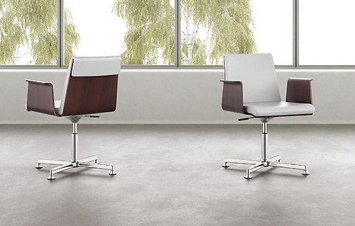 minimalist swivel home office chair