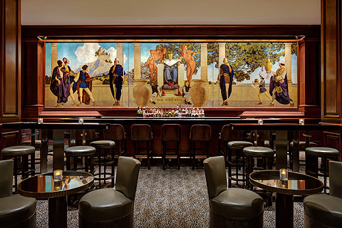 Restored Old King Cole Mural, St. Regis Hotel, New York