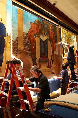 Old King Cole mural restoration