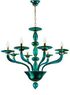The modern murano glass chandelier themodernsybarite villaverde murano glass green chandeliers aloadofball Choice Image