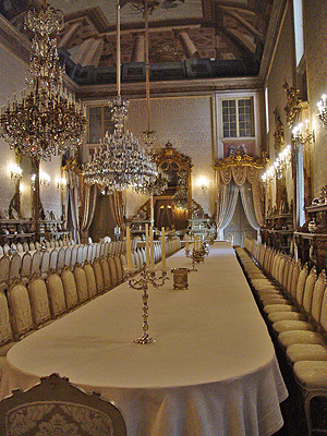 portuguese royal palaces ajuda lisbon formal dining room