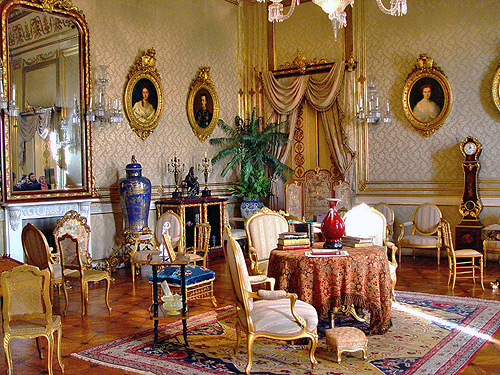 portiguese royal palaces ajuda lisbon sitting room