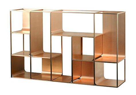 Metal and glass bookcase Brass Glass Unique Modern Bookcases Metal Richard Rabel Interiors Art Unique Modern Bookcases For Chic Interior Richard Rabel
