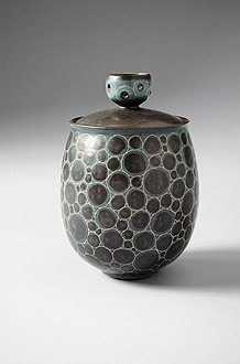 mid century ceramic vase by Harrison McIntosh