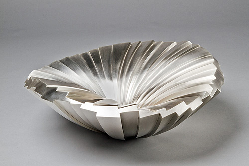silver sculpture kevin grey bowl