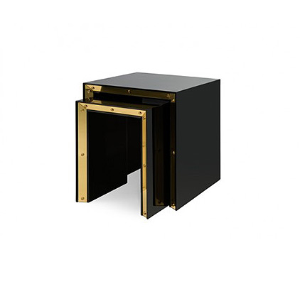Modern Lacquer Furniture Nesting Tables