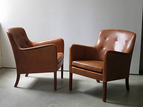 Scandinavian Modern Furniture Ole Wanscher Lounge Chairs