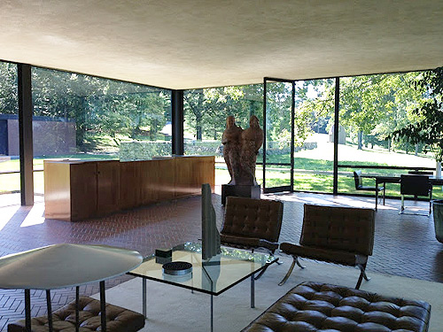 glass house interior design. Glass House Canoe Design Blog 3 Philip Johnson s  Museum TheModernSybarite