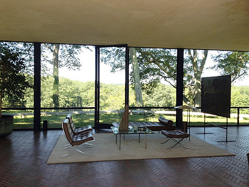 glass house interior design. Glass House Canoe Design Blog 7 Philip Johnson s  Museum TheModernSybarite