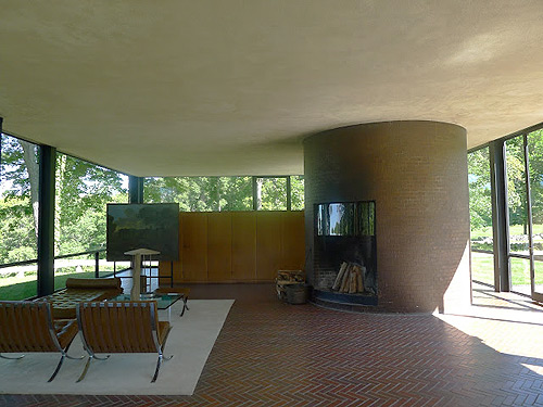 philip johnson s glass house museum themodernsybarite. Black Bedroom Furniture Sets. Home Design Ideas