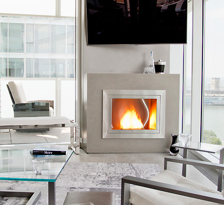 Ventless fireplaces are the way to go themodernsybarite for Three way fireplace