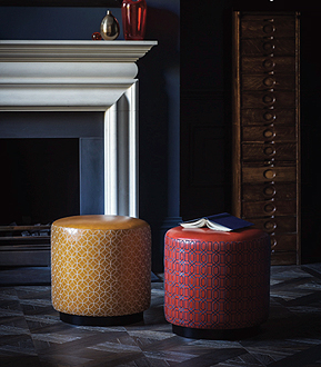 leather embroidered stools victoria bain