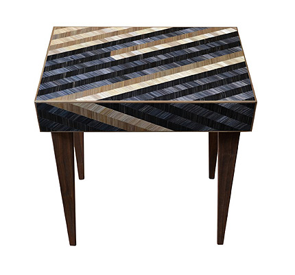 straw marquetry table violeta galan