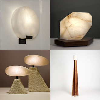 modern alabaster lighting