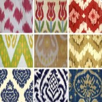 the kaleidoscopic patterns and colors of IKAT
