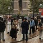 a movie still of 1880s Parisian street life – the work of French artist Jean Béraud