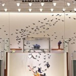 its not just for the birds: an installation in Barcelona for Hermès by Spanish artist Pamen Pereira