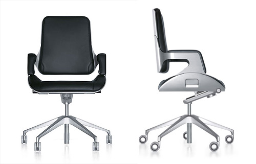 deluxe modern swivel office chair