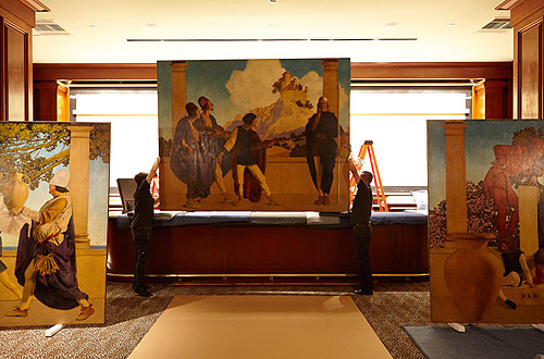 St.Regis-Old King Cole mural-removal