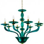 Villaverde-Murano-Glass-green-Chandeliers
