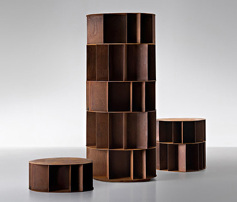 unique modern bookcases DeCastelli metal