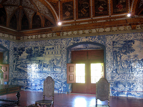 portuguese royal palaces pena palace tile room