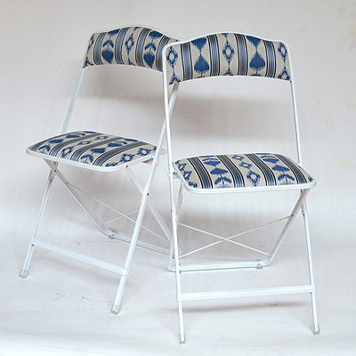 stylish folding chairs in ikat