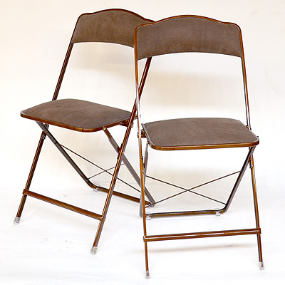 stylish folding chairs in suede