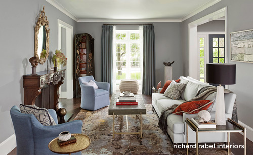 Richard Rabel Dallas home Renovation Living Room