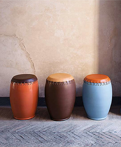 ceramic drum stools italy medium