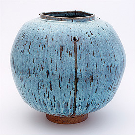 english studio pottery moon vase