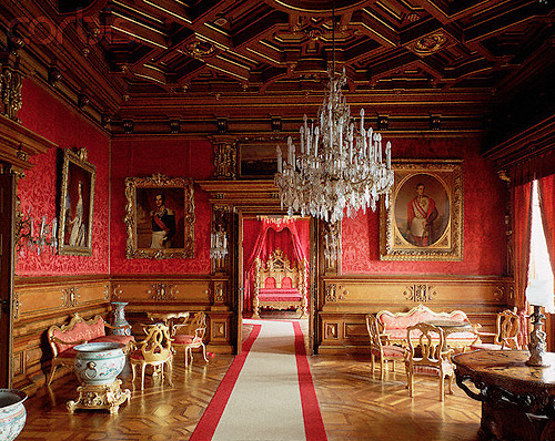 italian museum miramare castle drawing room