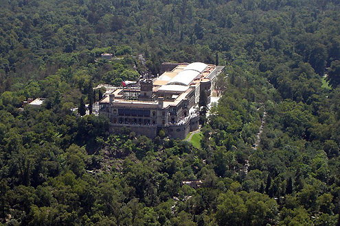 chapultepec-castle-aerial-view
