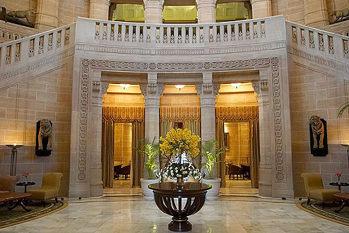 art deco interiors entry-Umaid-Bhawan-Palace