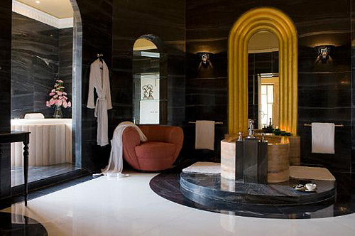 art deco interiors marble-bathroom-Umaid-Bhawan-Palace