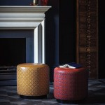 object of desire: victoria bain leather embroidered stools