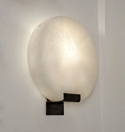 modern alabaster lighting Stephen Downes sconce