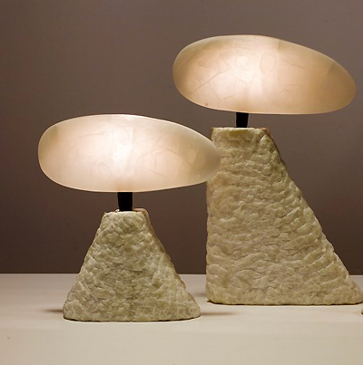 modern alabaster lighting Stephen Downes table lamps