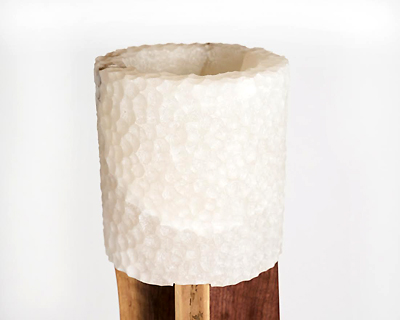 modern alabaster lighting Stephen Downes floor lamp detail